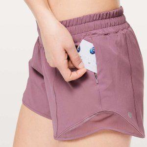 Lululemon hotty hot short 4'' Figue Pink Size 12